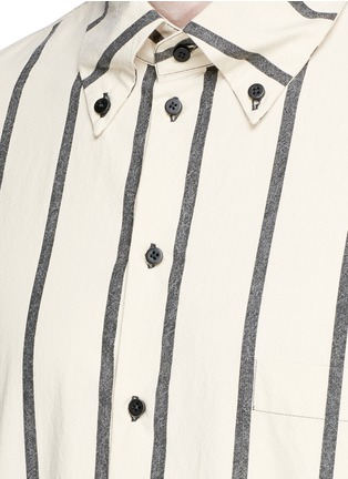 Detail View - Click To Enlarge - UMA WANG  - 'Tazio' stripe cotton shirt