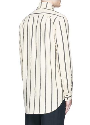 Back View - Click To Enlarge - Uma Wang  - 'Tazio' stripe cotton shirt