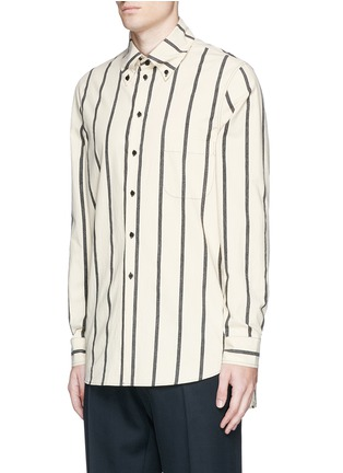 Front View - Click To Enlarge - Uma Wang  - 'Tazio' stripe cotton shirt