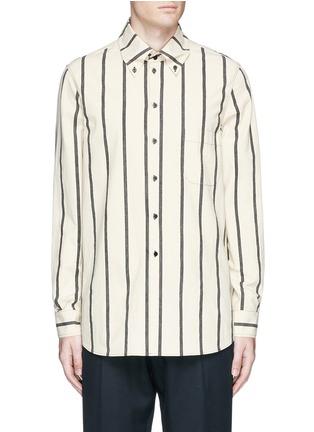 Main View - Click To Enlarge - UMA WANG  - 'Tazio' stripe cotton shirt