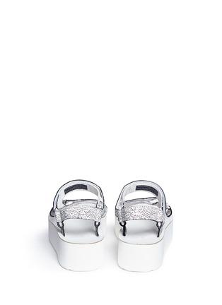 Back View - Click To Enlarge - Teva - 'Flatform Universal Crackle' leather sandals