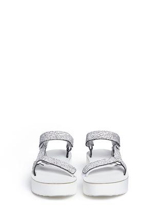 Front View - Click To Enlarge - Teva - 'Flatform Universal Crackle' leather sandals
