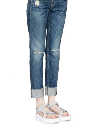 Figure View - Click To Enlarge - Teva - 'Flatform Universal Crackle' leather sandals