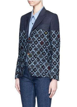 Front View - Click To Enlarge - IBRIGU - One of a kind kimono tailored jacket