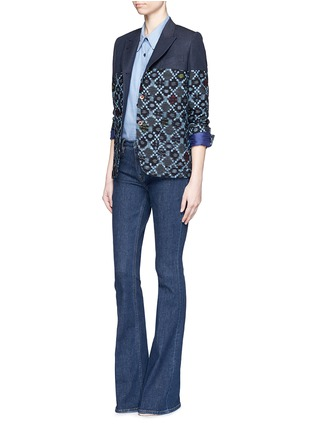 Figure View - Click To Enlarge - IBRIGU - One of a kind kimono tailored jacket