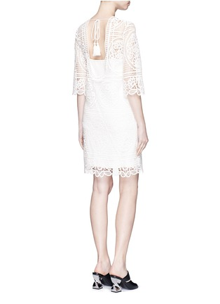 Figure View - Click To Enlarge - Mo&Co. - Geometric floral lace dress