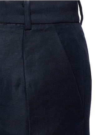 Detail View - Click To Enlarge - Mo&Co. - Cotton-linen culottes