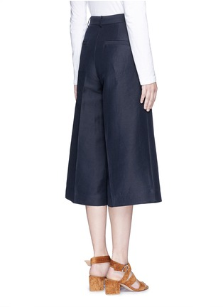 Back View - Click To Enlarge - Mo&Co. - Cotton-linen culottes