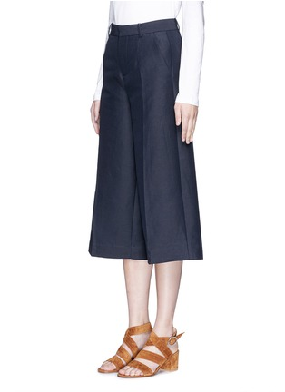 Front View - Click To Enlarge - Mo&Co. - Cotton-linen culottes