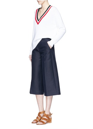 Figure View - Click To Enlarge - Mo&Co. - Cotton-linen culottes