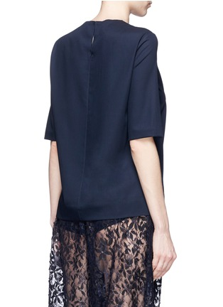 Back View - Click To Enlarge - Ms MIN - Short sleeve wool top