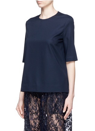 Front View - Click To Enlarge - Ms MIN - Short sleeve wool top