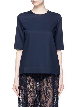 Main View - Click To Enlarge - Ms MIN - Short sleeve wool top