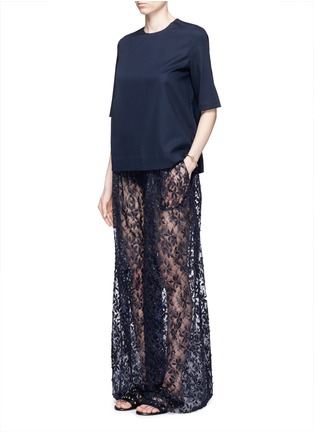 Figure View - Click To Enlarge - Ms MIN - Short sleeve wool top