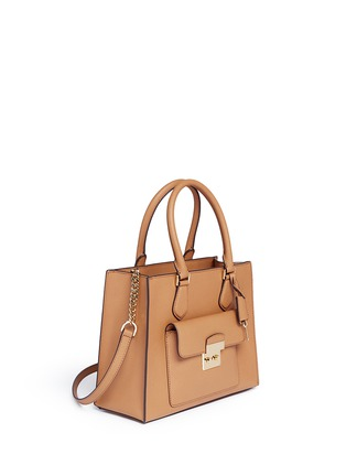 Front View - Click To Enlarge - Michael Kors - 'Bridgette' medium saffiano leather tote