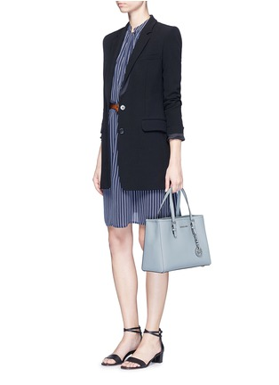 Figure View - Click To Enlarge - Michael Kors - 'Jet Set Travel' medium saffiano leather east west tote