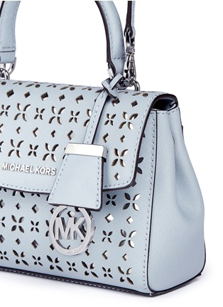 Detail View - Click To Enlarge - MICHAEL KORS - 'Ava' extra small perforated leather crossbody bag