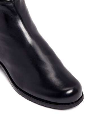 Detail View - Click To Enlarge - Stuart Weitzman - '5050' elastic back leather boots