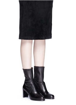 Figure View - Click To Enlarge - Stuart Weitzman - 'Calare' stretch leather boots