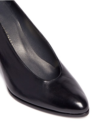 Detail View - Click To Enlarge - Stuart Weitzman - 'Choke Up' chunky heel leather pumps