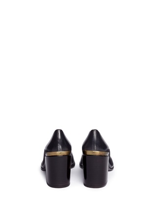 Back View - Click To Enlarge - Stuart Weitzman - 'Choke Up' chunky heel leather pumps