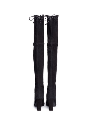 Back View - Click To Enlarge - Stuart Weitzman - 'Highland' stretch suede thigh high boots