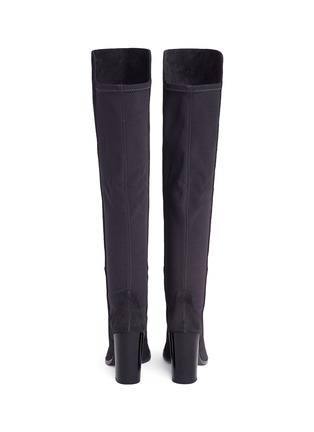 Back View - Click To Enlarge - STUART WEITZMAN - 'Hijack' elastic back suede boots