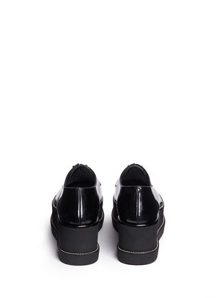 Back View - Click To Enlarge - Stuart Weitzman - 'Kent' leather platform Oxfords
