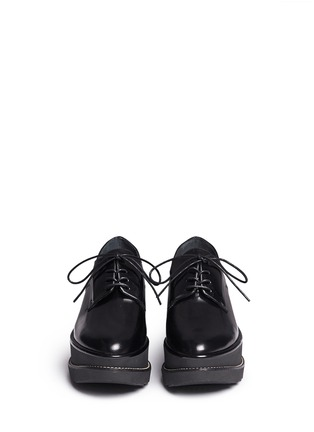 Front View - Click To Enlarge - Stuart Weitzman - 'Kent' leather platform Oxfords
