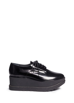 Main View - Click To Enlarge - Stuart Weitzman - 'Kent' leather platform Oxfords