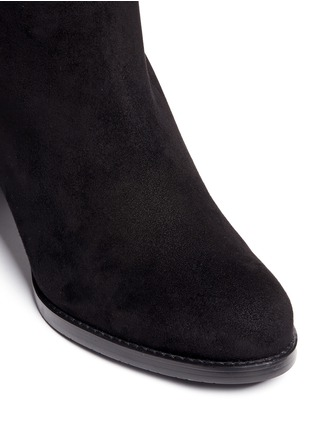 Detail View - Click To Enlarge - STUART WEITZMAN - 'Lowjack' elastic back suede boots