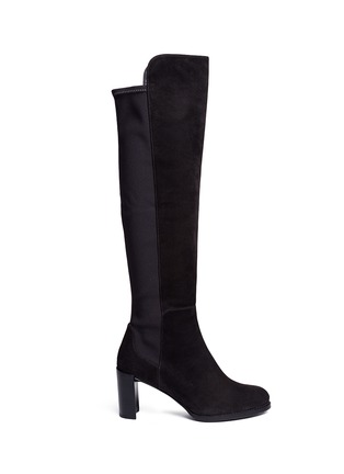 Main View - Click To Enlarge - STUART WEITZMAN - 'Lowjack' elastic back suede boots