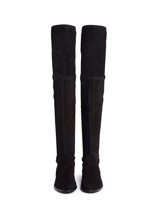 Front View - Click To Enlarge - Stuart Weitzman - 'Lowland' stretch suede thigh high boots