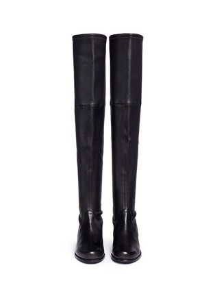 Front View - Click To Enlarge - Stuart Weitzman - 'Midland' stretch leather thigh high boots