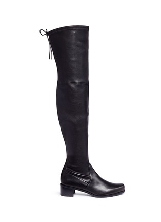Main View - Click To Enlarge - Stuart Weitzman - 'Midland' stretch leather thigh high boots