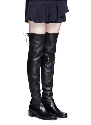 Figure View - Click To Enlarge - Stuart Weitzman - 'Midland' stretch leather thigh high boots