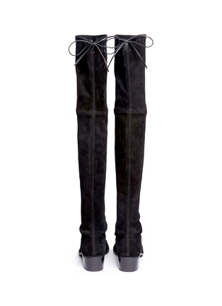 Back View - Click To Enlarge - STUART WEITZMAN - 'Midland' stretch suede thigh high boots