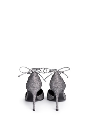 Back View - Click To Enlarge - Stuart Weitzman - 'On A String' lace-up glitter d'Orsay pumps