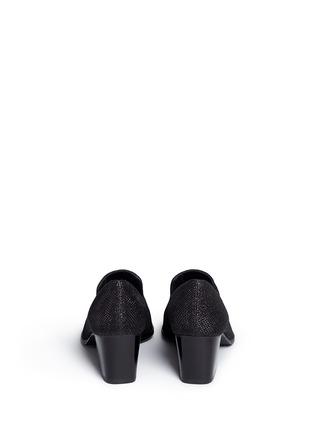 Back View - Click To Enlarge - Stuart Weitzman - 'Razmataz' tassel glitter mesh loafers