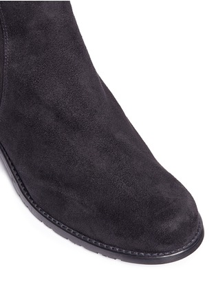 Detail View - Click To Enlarge - STUART WEITZMAN - 'Reserve' elastic back suede boots