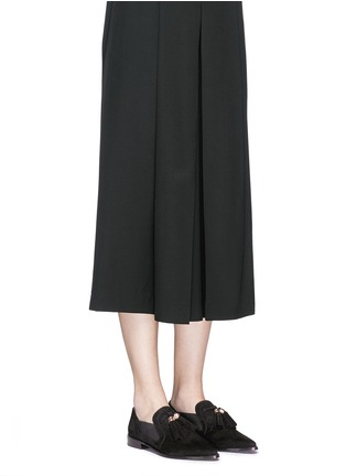 Figure View - Click To Enlarge - Stuart Weitzman - 'Sprouts' tassel suede loafer slip-ons