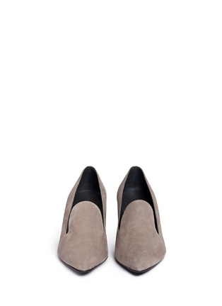 Front View - Click To Enlarge - Stuart Weitzman - 'Arky Mid' suede loafers