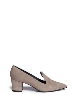 Main View - Click To Enlarge - Stuart Weitzman - 'Arky Mid' suede loafers
