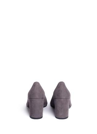 Back View - Click To Enlarge - Stuart Weitzman - 'Choke Up' block heel suede pumps