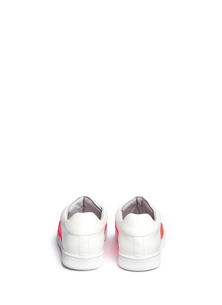 Back View - Click To Enlarge - JOSHUA SANDERS - Neon buckle strap leather sneakers