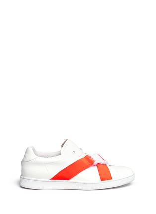 Main View - Click To Enlarge - Joshua Sanders - Neon buckle strap leather sneakers