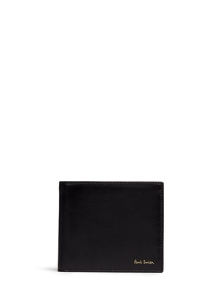 Main View - Click To Enlarge - Paul Smith - Stripe print interior leather bifold wallet
