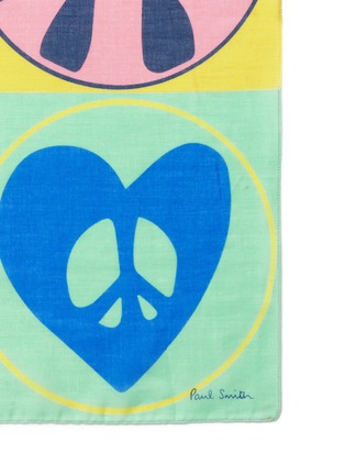 Detail View - Click To Enlarge - Paul Smith - 'Peace and Love' cotton pocket square
