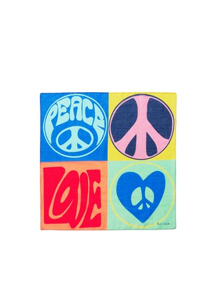 Main View - Click To Enlarge - Paul Smith - 'Peace and Love' cotton pocket square