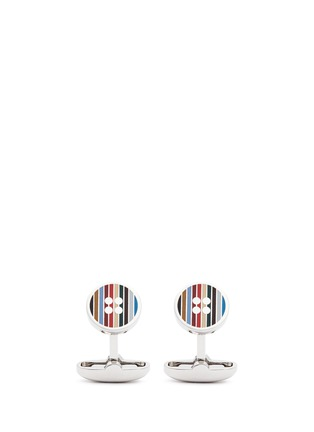 Main View - Click To Enlarge - Paul Smith - Multi stripe button cufflinks